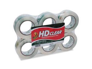 "Duck 299016 HD Clear Packaging Tape, 1.88"" Width x 109.30 yd Length - Heavy Duty, Adhesive - 6 / Pack - Clear"