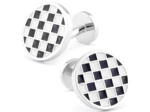 Round Checked 50's Throwback Cuff Links