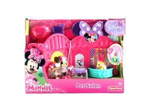 8pc Fisher Price Disney Minnie Mouse Bowtique Pet Animal Salon Set