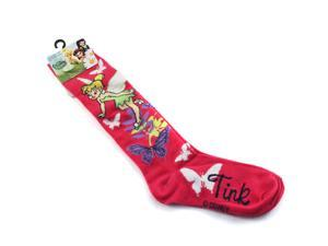 Tinkerbell Fairies Girls Knee High Socks Size 6-8 (Pink)