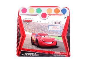 (30 page) Spiral Bound Disney Pixar Cars Watercolor Paint & Design Story Coloring Book