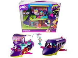 20+pc Polly Pocket Stunt N Style Adventure Jet Play Set