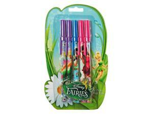 5pk Disney Tinkerbell Fairies Colorful Ballpoint Blue Ink Pens