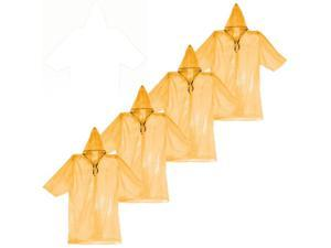 (4-PACK) Emergency Poncho Safety Orange Rain Storm Gear