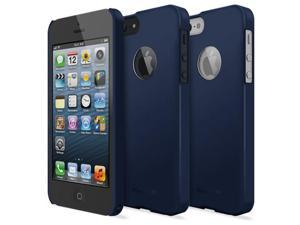 SF Matte Navy [Logo Cut-Out] - Apple iPhone 5 Ringke SLIM Soft Feeling Premium Hard Case + Logo Protection Film Included ...