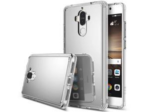 Huawei Mate 9 Case, Ringke [MIRROR] Bright Reflection Luxury Mirror Bumper Ultra-slim Protective Cover - Silver