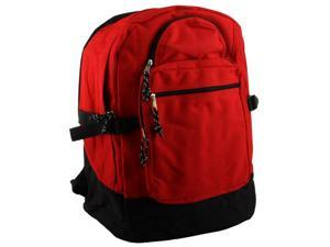 Merax School Backpack, Poly Cord, Red/Black