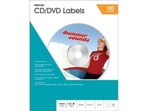 Merax Matte CD/DVD Labels, 40mm, 100-Pack
