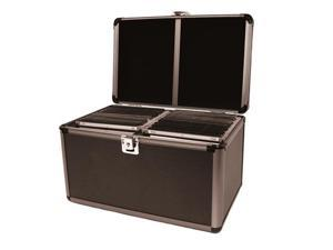 Merax Aluminum-like Hard Case, Holds 200 CDs, Black Color