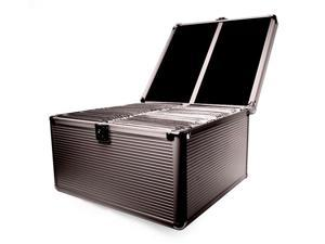 Merax Aluminum-like Hard Case, Holds 300 CDs, Black Color