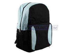 Merax Snack Backpack (Backpack converts to a snack pack), Polyester, Light Weight, Black/Lt. Blue Color