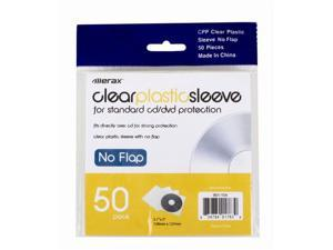 Merax Clear Plastic Sleeves without Flap (for CD/DVD protection), 50-Pack