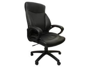 Merax Leather Office Chair H-9182L-1, Black