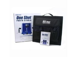 Merax One Shot Photo Studio, Portable Product Photography Studio with Lighting, White and Blue Background Cloth, Software ...