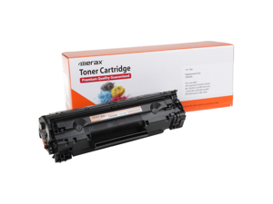 Merax Compatible Black Toner Cartridge for HP CB436A (36A, CB 436, HP36A, HP 36, HP36)