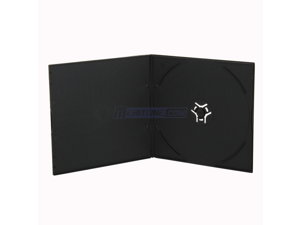 3.8mm Super Slim Black Single Disc Load CD/DVD Poly Case with Full Sleeve, Made with PP Material, 100 Pack Bulk
