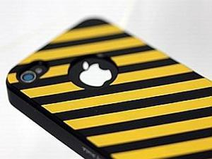 iShell Zebra Series Hard Thin Back Cover for iPhone 4 / 4S - Yellow