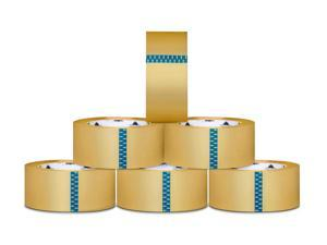 2 x 110 Yards 1.9 mil Clear Clear Tape Packing Tapes Shipping Carton Sealing Tape 12 Rolls