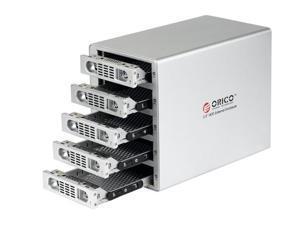 "ORICO 3559RUS3 5 BAY USB 3.0 & E-SATA & RAID 0/1/3/5/10  3.5"" SATA HARD DRIVE HDD ALUMINUM ENCLOSURE, UP TO 3TB"