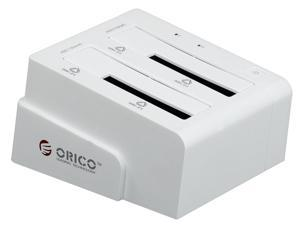 "ORICO 6628SUSC-WH 2 Bays 2.5""/3.5"" HDD Docking Station with Clone Function"