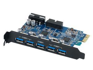 Orico PVU3-502I PCI-Express Card w/ 5 external USB 3.0 Ports and 1 internal 20Pin USB 3.0 Port Serial Adapter