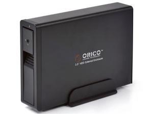 "Orico 7618SUS3-BK Tool-Free USB 3.0 & E-SATA Interface Aluminum 3.5"" SATA HDD Enclosure (Black)"