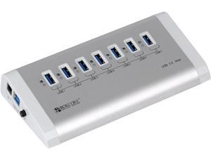 ORICO 7 Port Aluminum USB 3.0 SuperSpeed Hub with 20W Power Adapter (VIA VL812 Rev B2 Chipset with v9081 firmware. Windows, ...