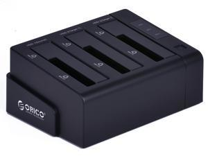 "ORICO 6638USJ-C-BK Plugable 3 slots triple 2.5 /3.5 "" SATA to USB 2.0 HDD Docking Station,Hard Drive Cloner(Black)"