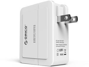 ORICO DCX-2U 5V4A 20 Watt Dual USB Smart Charger with 1x 5V2.4A Super Charging for iPhone, iPad, Galaxy, HTC, Smartphones, ...