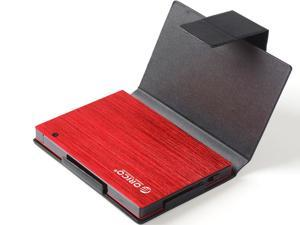 ORICO 25AU3-RD Ultra Slim 2.5-Inch SATA to USB 3.0 External Aluminum Screwless Hard Drive Enclosure with Sleeve - Red