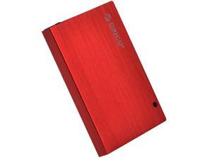 ORICO Tool Free Screw-Less] USB 2.0 2.5-inch SATA External Hard Drive Enclosure Adapter Case for HDD SSD SATA Drive - Red(2595SUS)