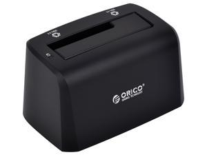 "Orico 8619US3-BK SuperSpeed USB 3.0 / 2.0 to 2.5"" / 3.5"" SATA Hard Drive Docking Station - Support 3TB"