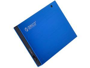 ORICO Ultra Slim 2.5-Inch SATA to USB 2.0 External Aluminum HDD/SDD Enclossure - Blue(2595US)