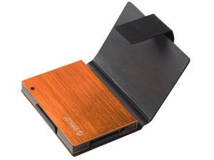 Orico 25AU3-OR External USB 3.0 To 2.5 - Inch SATA Aluminum Hard Drive Enclosure Case With Exclusive Sleeve - Orange