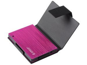 Orico 25AU3-OR External USB 3.0 To 2.5 - Inch SATA Aluminum Hard Drive Enclosure Case With Exclusive Sleeve - Pink