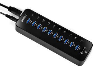 Orico P10-U3 USB3.0 10 Port HUB with 3.3 Feet USB3.0 Cable and 12V Power Adapter