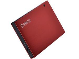 ORICO USB 3.0 To 2.5-Inch Sata Aluminum Screwless Hard Drive Enclosure (Red)