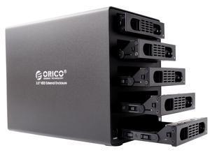 "ORICO 3559SUSJ3 -BK Full Aluminum Tool Free 5 - Bay USB 3.0 & eSATA 3.5 "" SATA Hard Drive HDD Enclosure (Without RIAD)"