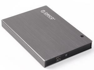 "ORICO 2595US Tool Free USB 2.0 2.5"" SATA-I, SATA-II, SATA-III HDD and SSD Hard Drive HDD External Aluminum Enclosure-Gray"