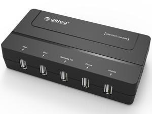 ORICO DCH-5U 30W 5-Port Desktop USB Charger for iPhone 6s / 6 / 6 Plus, iPad Air 2 / Mini 3, Samsung Galaxy S6 / S6 Edge / Note 5, HTC M9, Nexus and More - Black