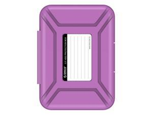 ORICO PHX-35 Professional Premium Anti-Static Hard Drive Protection Box for 3.5 Inch HDD Storage - Purple