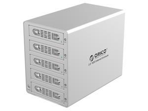 "ORICO 3559SUSJ3-SV  5 BAY USB 3.0 & E-SATA 3.5"" SATA HARD DRIVE HDD ALUMINUM ENCLOSURE, UP TO 4TB  (WITHOUT RAID)"