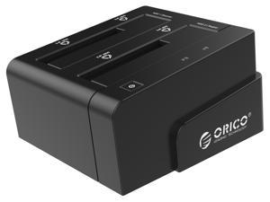 ORICO 2.5 & 3.5 inch SATA USB 3.0 General Hard Drive Enclosure External Docking Station with US Plug - Black (6628US3-C)