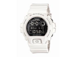 Casio G Shock Quartz Black Dial White Band - Men's Watch DW6900NB-7