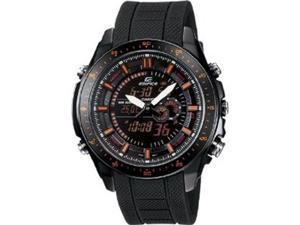Casio Edifice Quartz Black/Red Dial Black Band - Men's Watch EFA132PB-1AV
