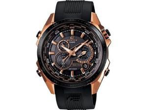 Casio Edifice Black X Rose Gold Dial Men's Watch - EQS500CG-1A