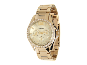 Fossil Riley Gold Stainless Steel Bracelet Women's Watch - ES3203
