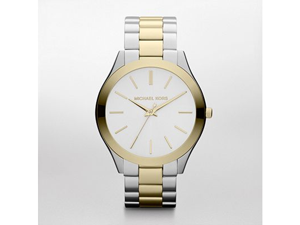 Michael Kors Runway Slim Golden Two Tone Unisex Watch - MK3198