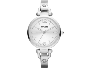 Fossil Georgia Stainless Steel Quartz Silver Women's Watch - ES3083