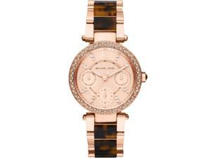 Michael Kors Multi-Function Rose Dial Rose Gold-tone & Tortoise-shell Watch